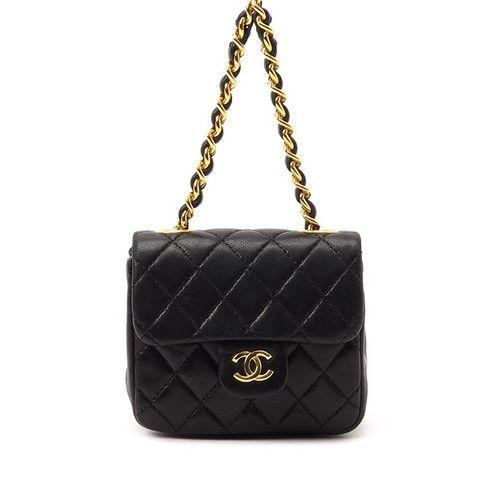 Vintage Chanel Mini Leather Quilted Handbag Quilted Handbags Chanel Mini Vintage Chanel