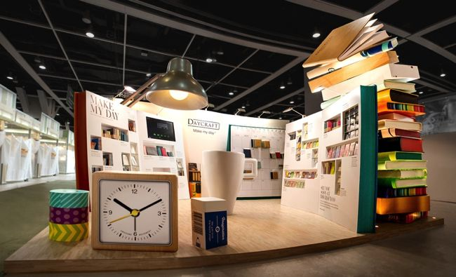 Exhibition Stand Display Ideas : Giant notebooks are falling booth pinterest