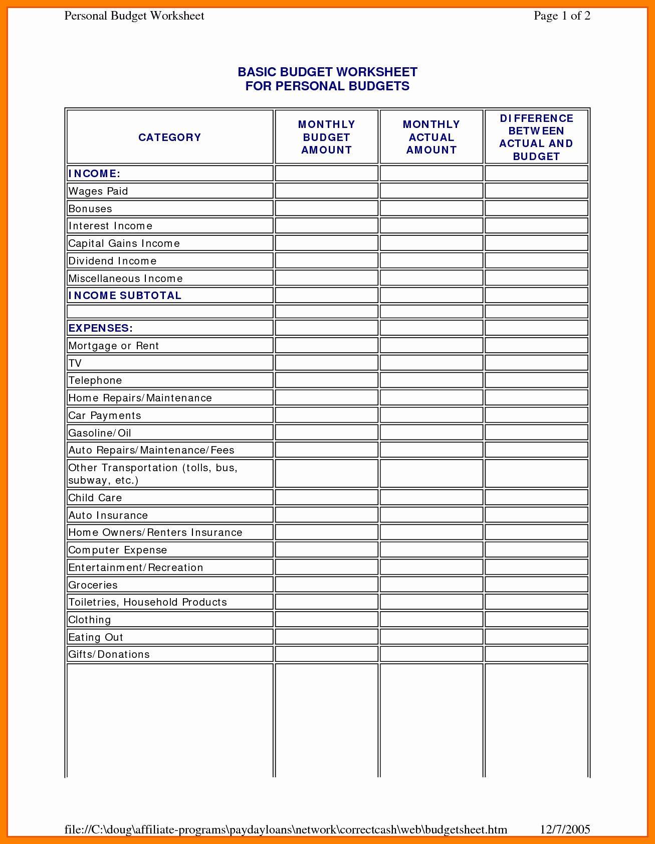 New To Do List Spreadsheet