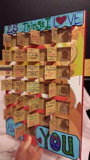 Homemade Advent Calendar Ideas For Boyfriend : Things i love about you advent calender christmas