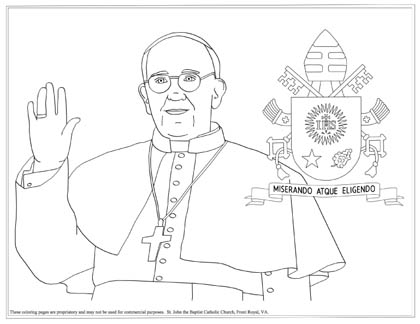 Catholic coloring pages: stations, saints, Bible stories