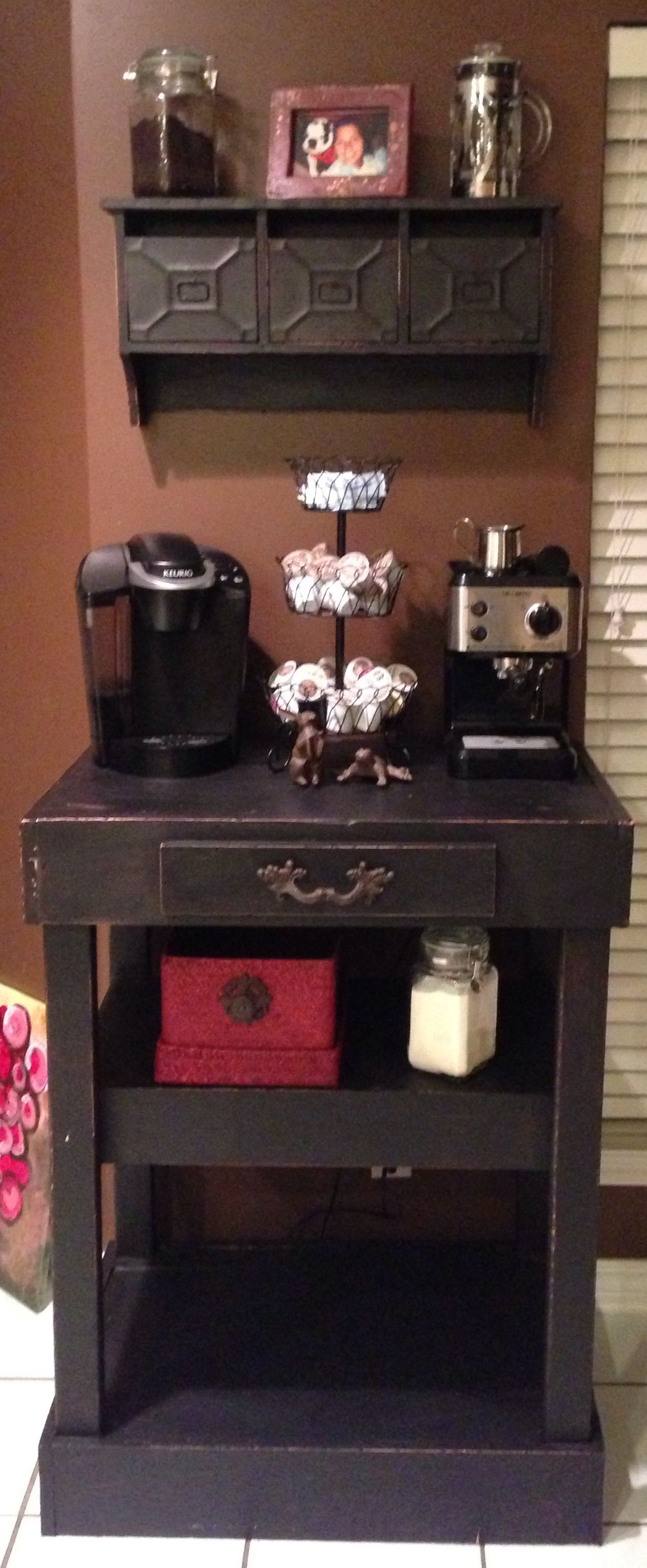 Home coffee station bar this is so cute i would drink for Coffee bar station
