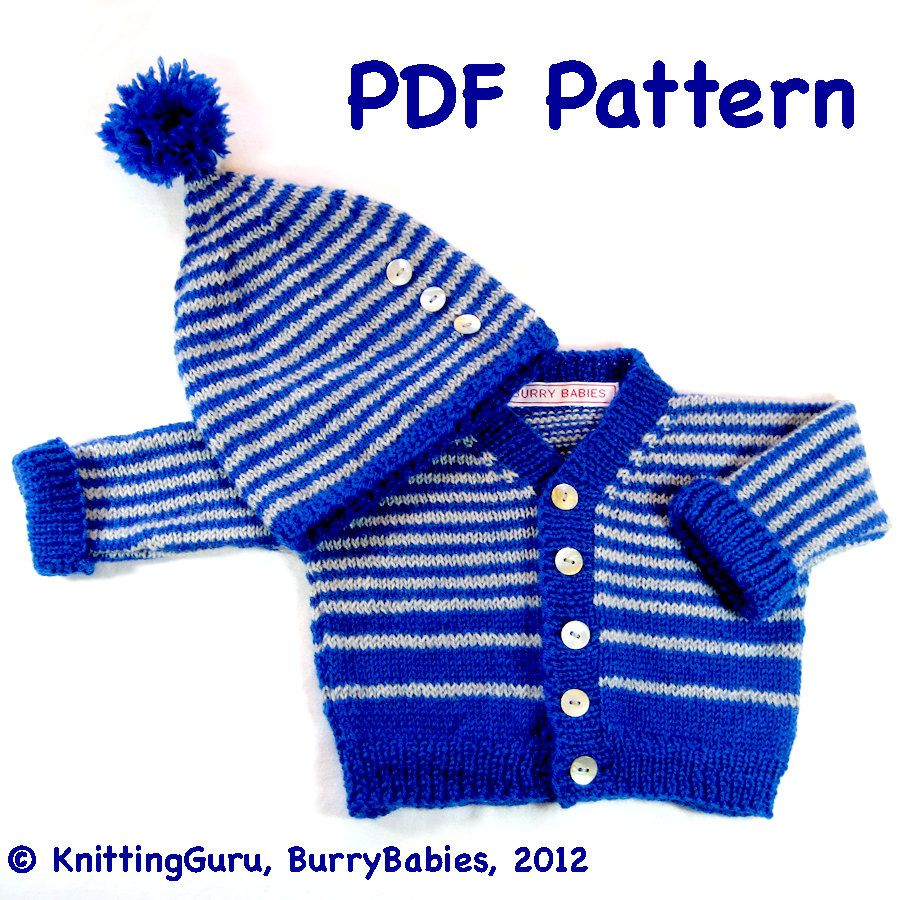 Baby Sweater and Hat: Easy Knitting DIY. -> Please check http://www ...