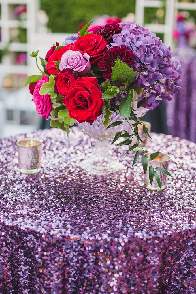 Glam Red And Purple Wedding Inspiration Red Purple Wedding