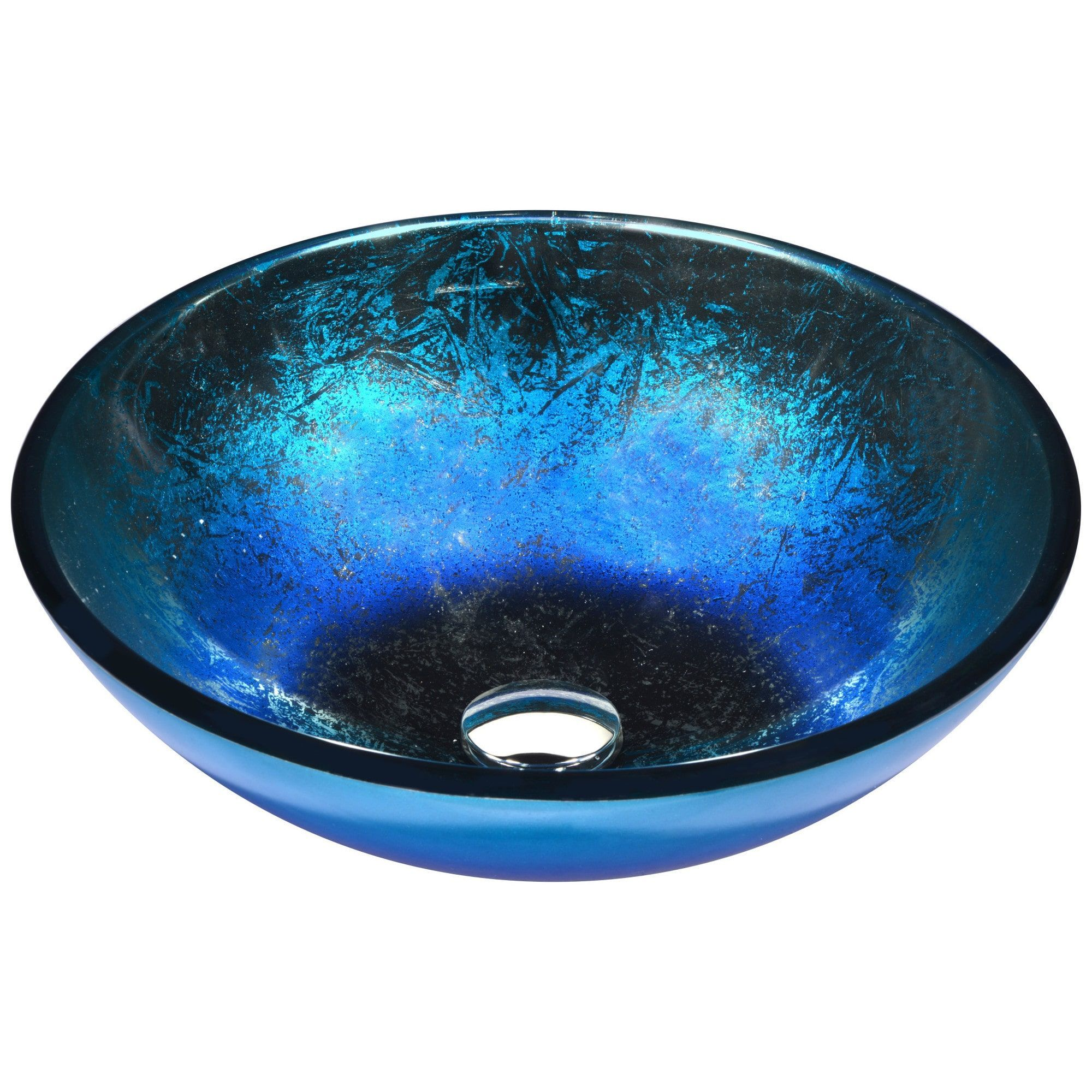 Anzzi Oceana Series Vessel Sink In Blue Blue In 2019 Vessel Sink Glass Vessel Sinks Glass Sink