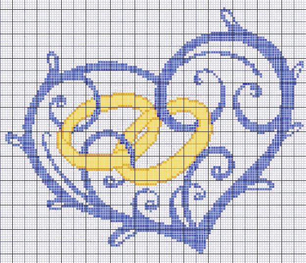 Cuscino Fedi Punto Croce Schema.Cuore Con Fedi Per Cuscino Matrimonio Punto Croce Graphs