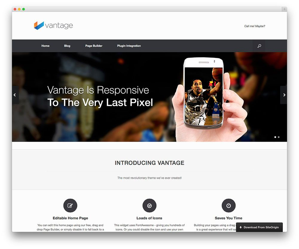 Vantage theme for business or portfolio site projekty do we have list of best free responsive wordpress themes perfect used for multiple purposes for portfolio news or magazine businesss forever free wajeb Image collections