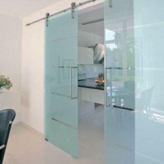 Elegant Frameless Glass Door System Creates A Minimalist Look 120kg System Designed For 8mm Glass Doors Interior Modern Closet Doors Design Sliding Door Design