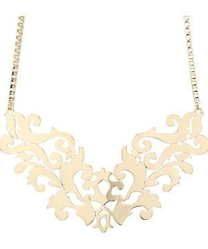 Juicy Couture Beverly Hills Gold Openwork Drama Necklace