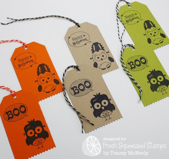 Fresh Squeezed Stamps - love the black ink on plain coloured card stock!
