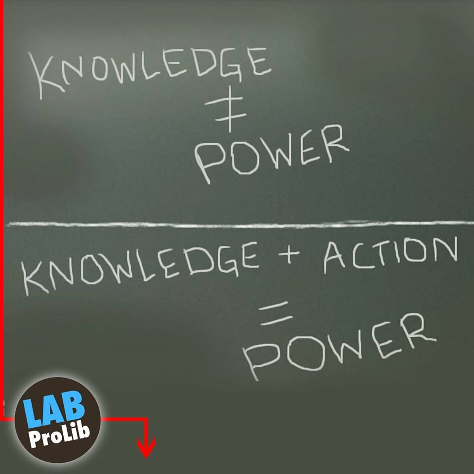 Knowledge = Power / Knowledge+ Action=Power Spanish English, Color Schemes,  Knowledge,