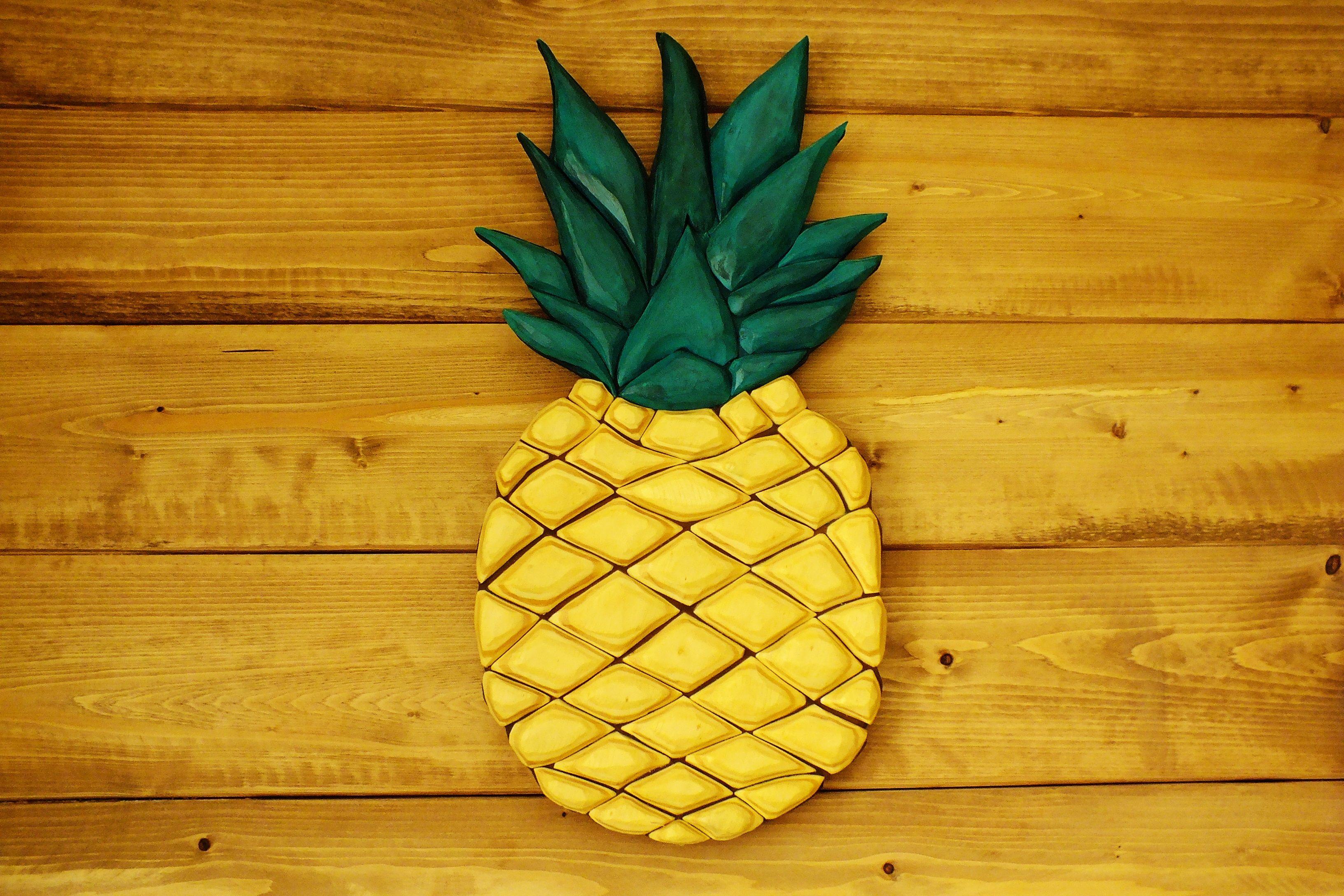 Pineapple decorWood pineappleGold Pineapple SignPineapple   Etsy ...