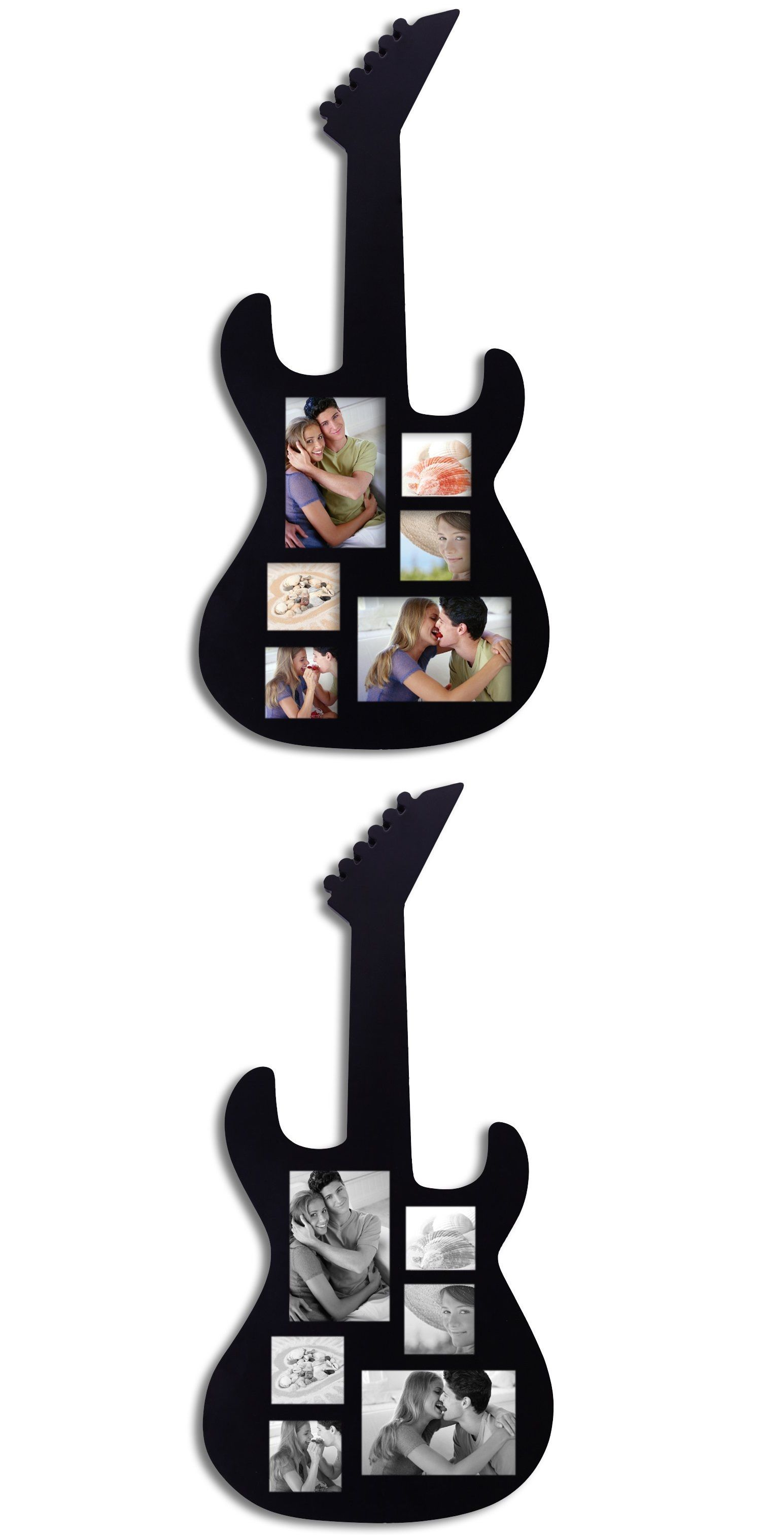 Black wood guitar collage picture photo frame collage pictures black wood guitar collage picture photo frame jeuxipadfo Gallery
