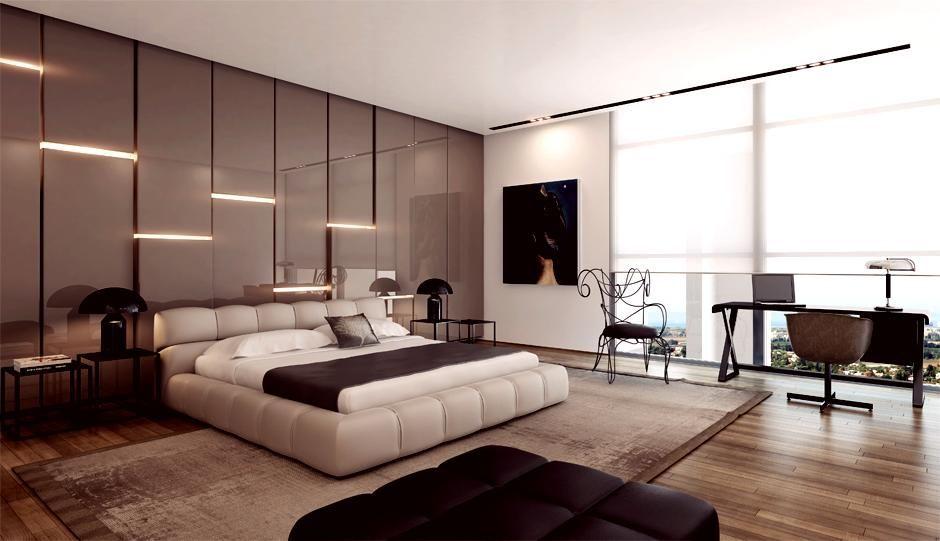 Modern Bedroom Design Platform Bed Apartment Interior Design