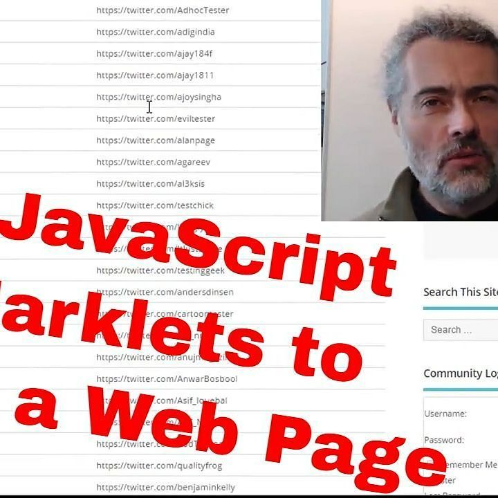 New Youtube video showing how to create and use bookmarklets for amending web pages  http://buff.ly/2rzn63B  See link in profile  #TechnicalTesting #JavaScript #Bookmarklets #TechnicalTesting #SoftwareTesting #SoftwareTester #WebTesting #WebDevelopment #JavaScriptDevelopment #JavaScriptPrograming