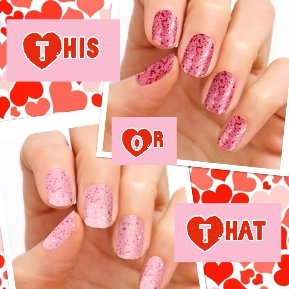 Pink glitter Color Nail Strips, 100% real Nail Polish. Easy to apply ...
