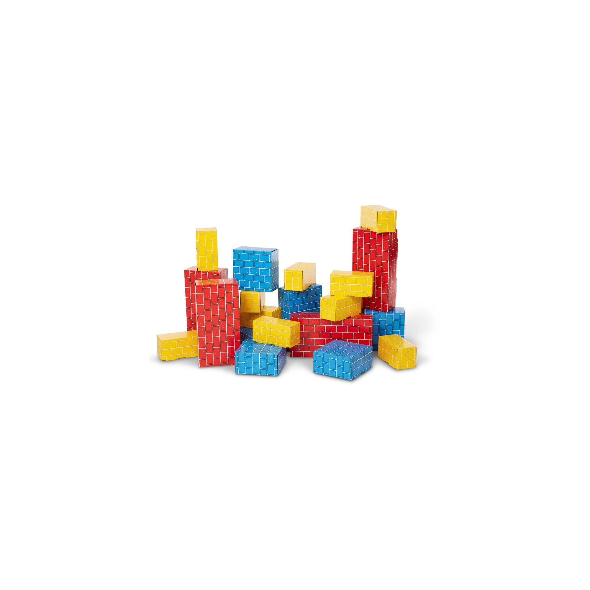 Melissa Doug Extra-Thick Cardboard Building Blocks 24 Blocks in 3 Sizes