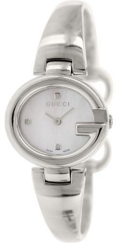 1519927933f Gucci Women s Guccissima YA134504 Silver Stainless-Steel Swiss Quartz Watch