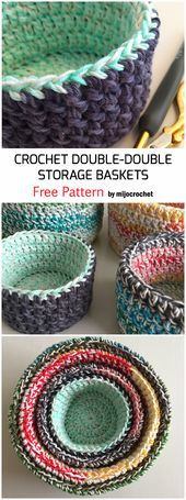Photo of Crochet Double Double Storage Baskets – Free Pattern – Crochet