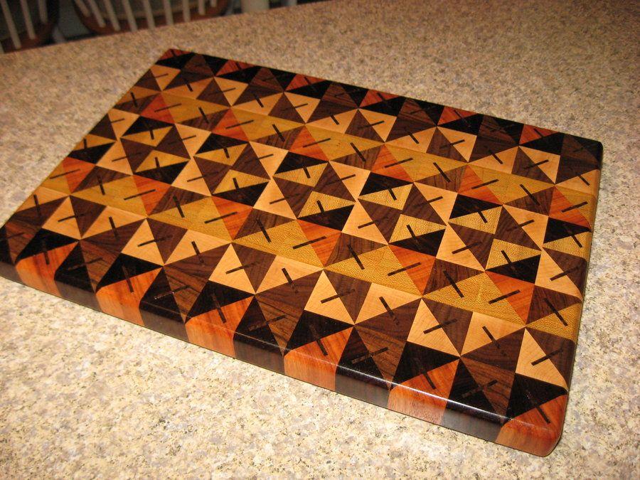Quilt pattern cutting board - by amagineer @ LumberJocks.com ~ woodworking community