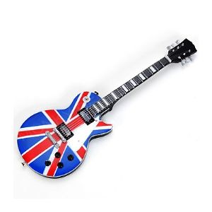 Miniatura De Guitarra Estampa Bandeira Inglaterra Reino Unido