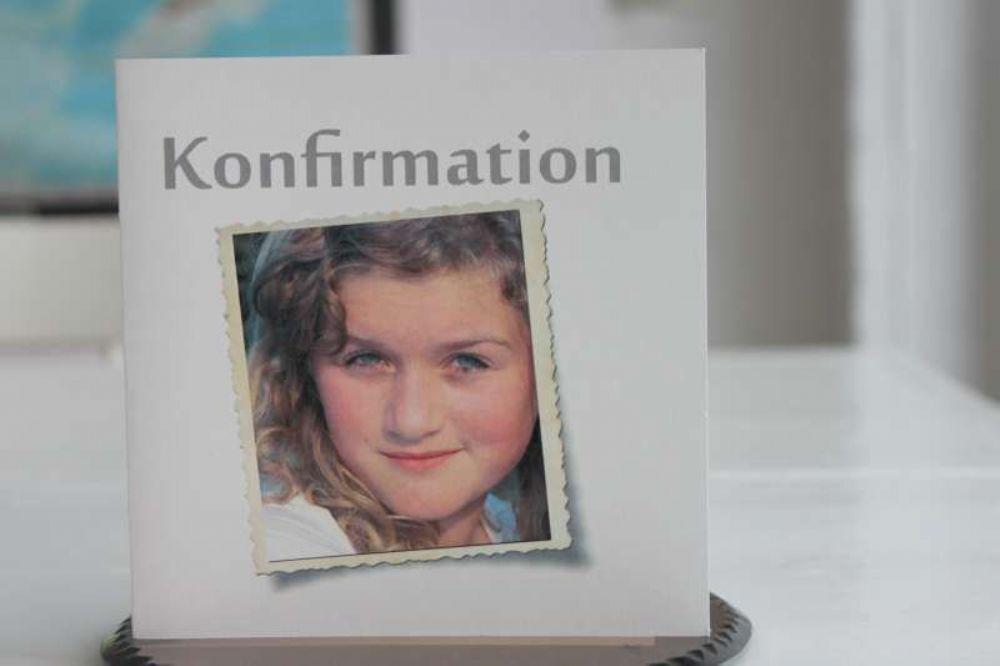 Foto invitation billedramme pige