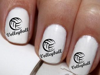 20 Pc Volleyball Nail Art Decals By Easynailtrends