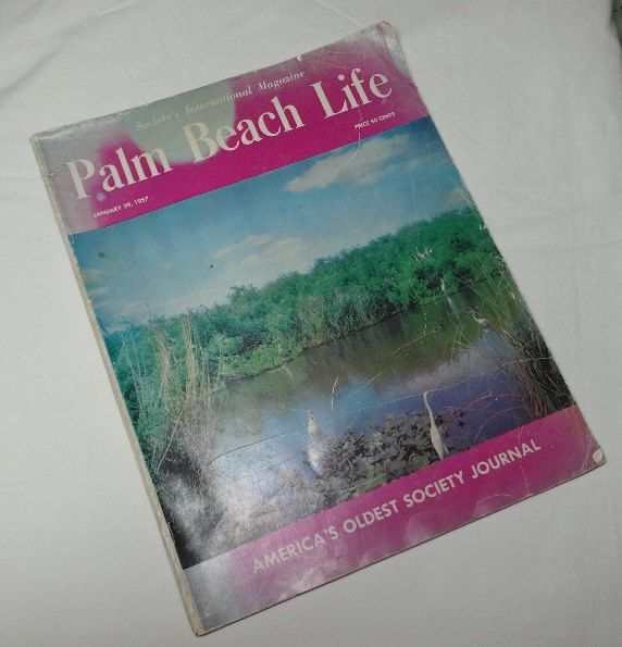 1957 Vintage Palm Beach Life Magazine, America's Oldest