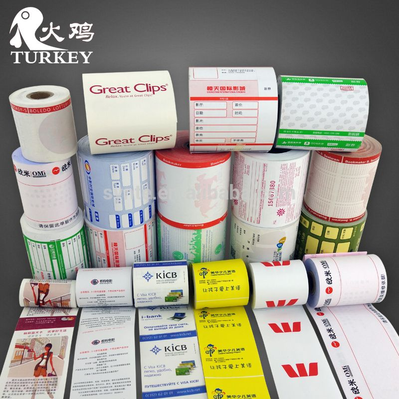 Custom Printed Paper Rolls Thermal 80mm Cash Register Paper 3 1/8