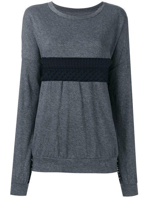 Y'S lace insert sweathshirt. #ys #cloth #sweathshirt