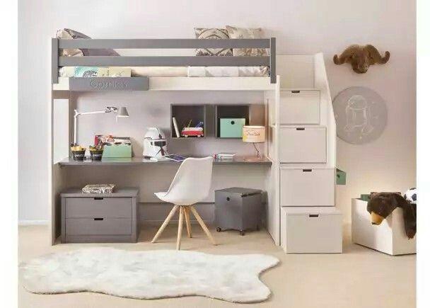 Litera Habitación Cama Escritorio Y Gavetas En Uno Solo Dormitorios Cama Con Escritorio Debajo Cama Y Escritorio