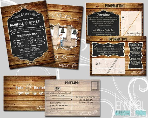 rustic country wedding invitation rsvp wedding and wedding