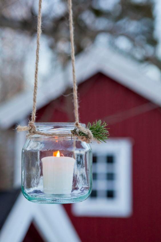 outdoor christmas candle nordic christmas Diy Pinterest