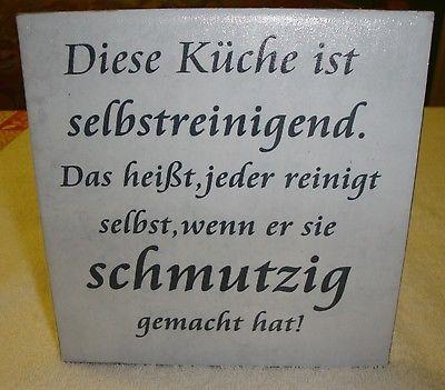 Wandbild Keramikfliese Mit Spruch Kuche 1 Spruch Kuche Keramikfliese Wandbilder