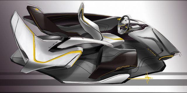 Auto interior by CCS Transportation Design student Jason Hoglamour.