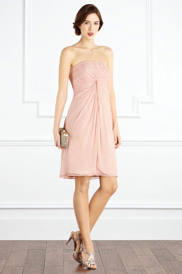 Blush bridesmaid dress | Vowel renewal | Pinterest