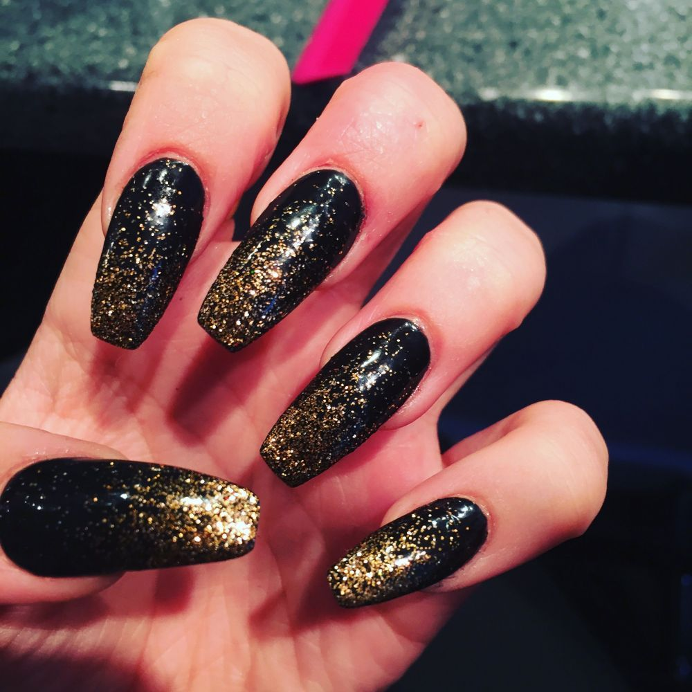 12 Luxury Black Acrylic Nail Designs Prom Fitnailslover Acrylic