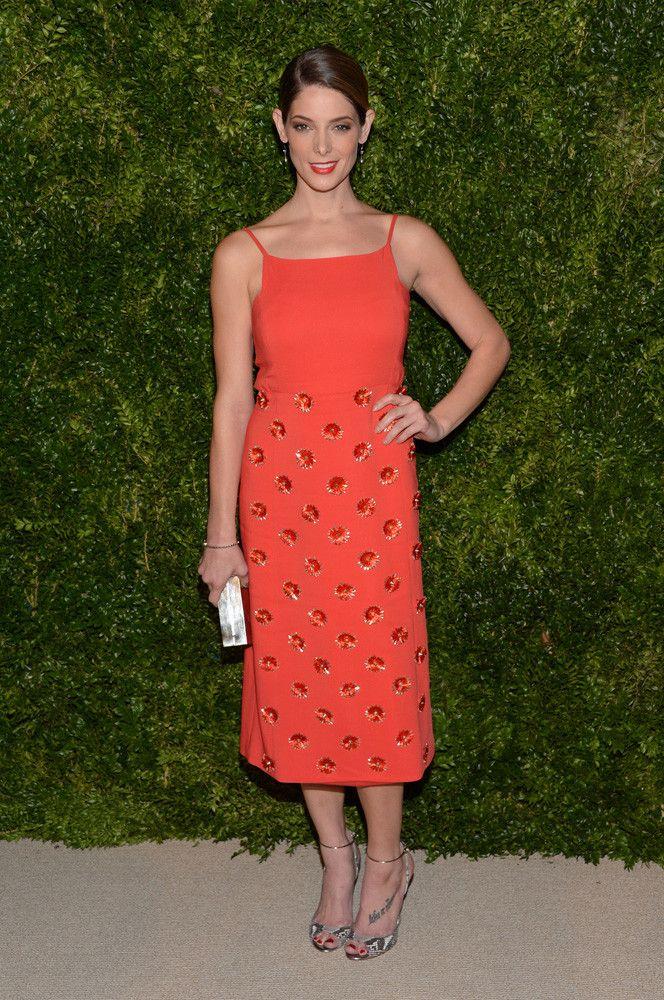 Ashley Greene midi dress.