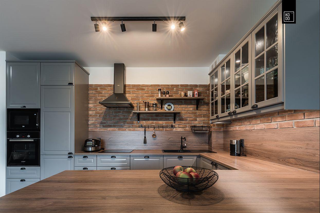 Pin Na Kitchen With Wood Kuchnia Z Drewnem