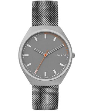 72b37da1423 Skagen Men s Grenen Gray-Tone Stainless Steel Mesh Bracelet Watch ...