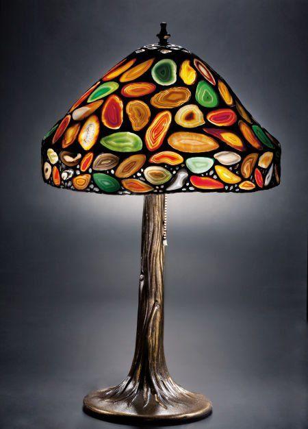 Basements · Tiffany Style Agate Lamp ...