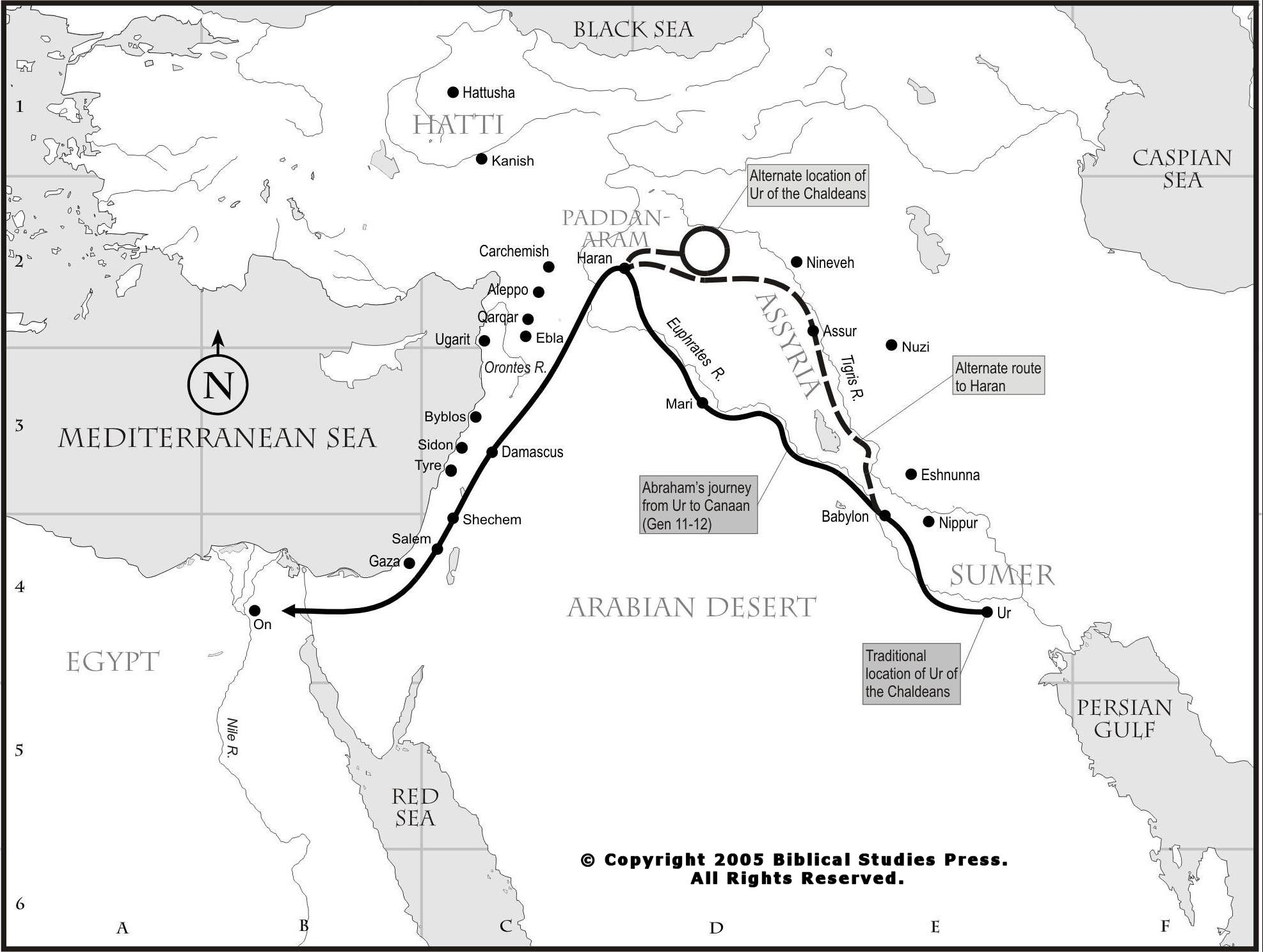 Abraham Travel Map Google Search Patriarch Study Pinterest - Map of egypt bible times