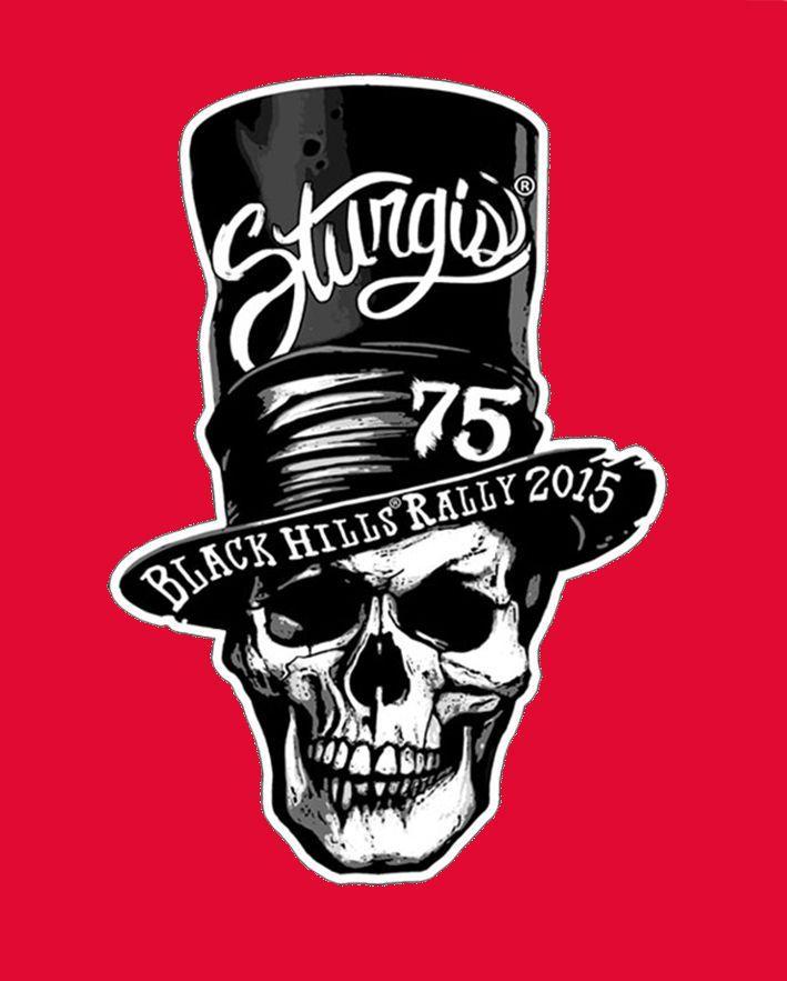 Motorcycle Logodesign: 2015 STURGIS RALLY 75th Anniversary Skull 4 Inch BIKER