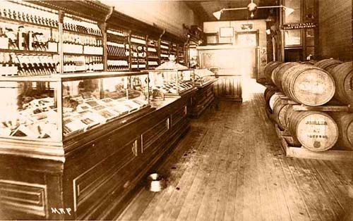 Interior Cigar and Liquor Store-Pearl St - Historic Photo