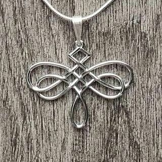 Celtic Knot Dragonfly Necklace Celtic Knot Necklace Dragonfly