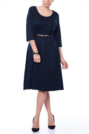 Buyuk Beden Lacivert Elbise Elb13018sbb Elbise Moda Stilleri The Dress