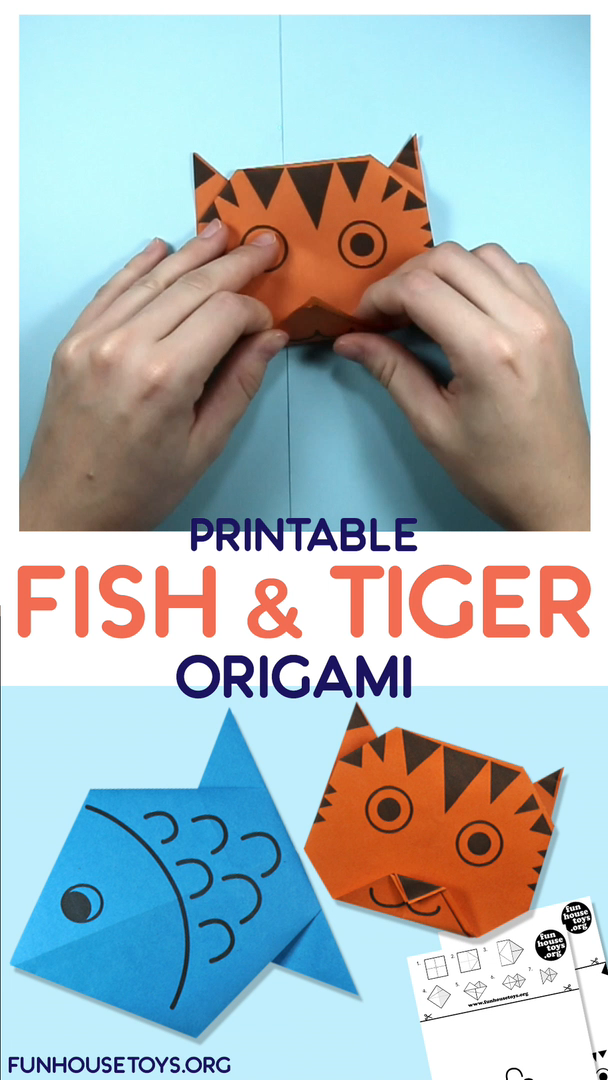 Photo of Fun and Easy Fish and Tiger Origami