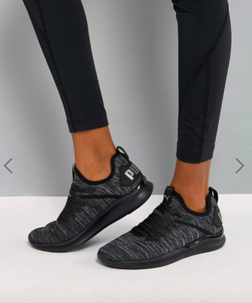 Puma Running Ignite Flash Evoknit Satin Trainers