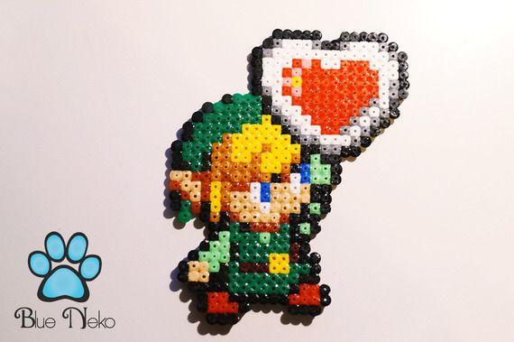 Pixel Art Link Cœur Zelda Art Perle Pixel Art Link Et