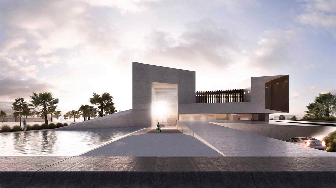 Khalifa City Striking Architectural Project By Creato - Contemporary purity and simplicity pool villa by jm architecture italy